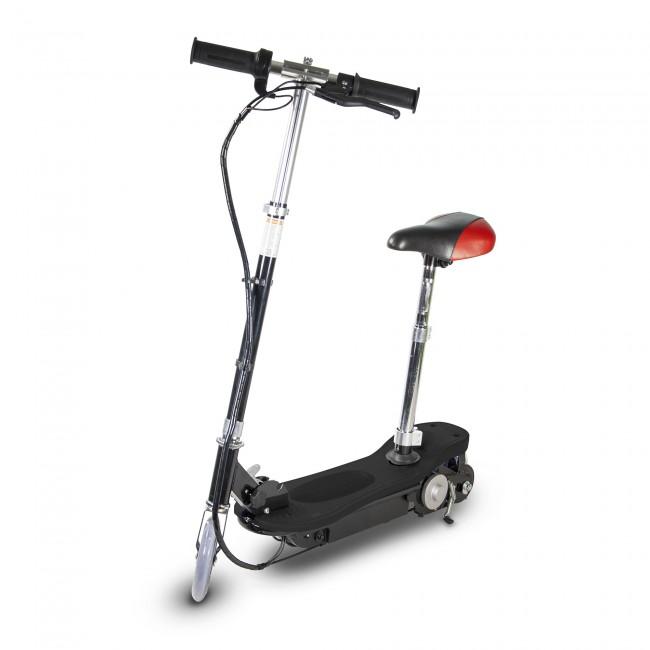 Trottinette électrique Power Plus avec siège, pliable - 120 Watts
