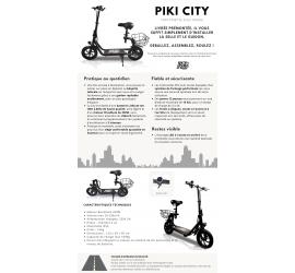 Trottinette électrique Piki City - Noir