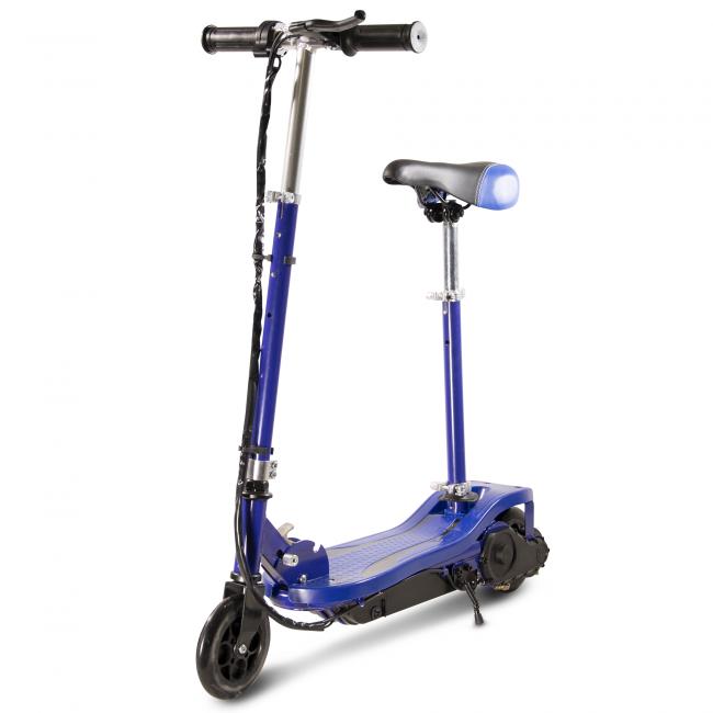 Trottinette électrique Piki Ever avec siège - 120 W - Bleu Foncé